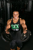 Men's Sick Veins Bro Stringer Tank Top - Black/Green