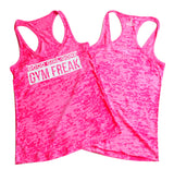 Women's Good Girl Gone Gym Freak Racerback Tank Top - Pink