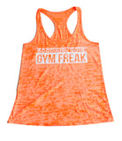 Women's Good Girl Gone Gym Freak Racerback Tank Top - Orange