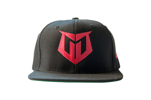 Muscle Motivation Snapback Hat - Black/Hot Pink