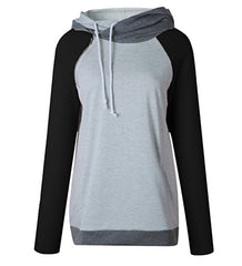 Women's Double Hoodie - Black/Grey