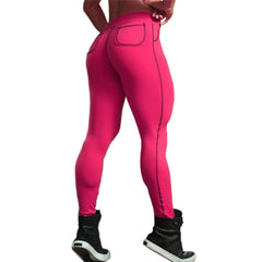 Women's Muscle Motivation Pocket Leggings - Pink