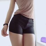 Women's High Waist Shorts - Black