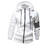 Men's Muscle Motivation Counterstrike Fleece Hoodie (Slim Fit) - White