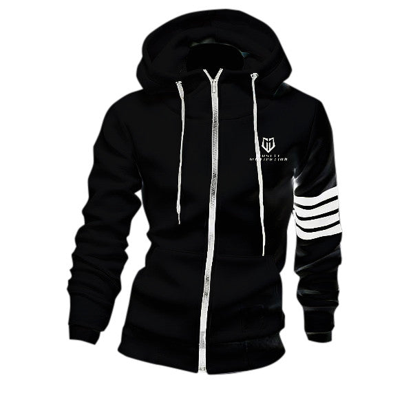 Muscle Motivation Counterstrike Fleece Hoodie (Slim Fit) - Black