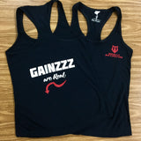'Gainzzz Are Real' Women's Tank Top - Black