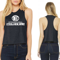 *New - International Pro Elite (IPE) Women's Crop Top - Charcoal Grey