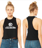 International Pro Elite (IPE)  Racerback Crop Top - Black