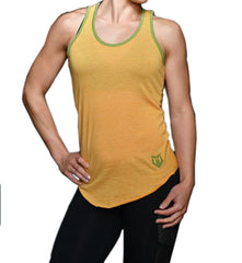 Women's Muscle Motivation Organic/ECO Friendly Racerback Tank Top - Yellow