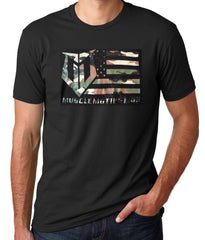 Muscle Motivation Camo Flag T-Shirt – Black