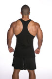 *New - International Pro Elite (IPE) Men's Stringer Tank Top - Black Black - Train Like a Champion