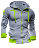 Women's Muscle Motivation Assassins Rider Slim Fit Hoodie - Grey/Green
