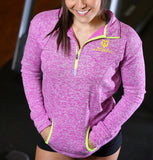 Women's Muscle Motivation Fleck Fleece Jacket - Purple/Yellow