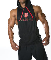 Men's MM Stringer Racerback Hoodie - Black/Red