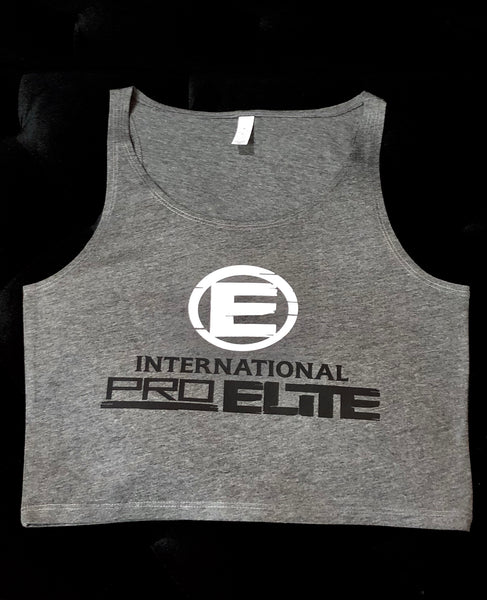 * New Limited Edition – only 1 made!*International Pro Elite (IPE) Women's Crop Top - Grey with White\Black Logo