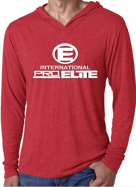 *New- International Pro Elite (IPE) Unitsex Tri-blend Pullover Lightweight Hoodie - Red