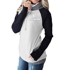 International Pro Elite (IPE) Women's Double Hoodie - Black/Grey With While Logo