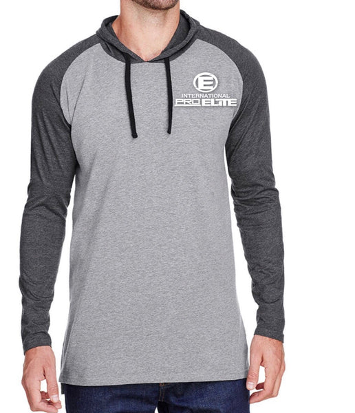 *New- International Pro Elite (IPE) Mens Pullover Lightweight Hoodie - Grey