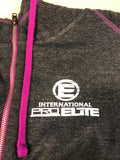 *New ON SALE FOR LIMITED TIME- Women's International Pro  Elite (IPE Tri-blend Quarter-Zip Fleece Hoodie - Fuchsia