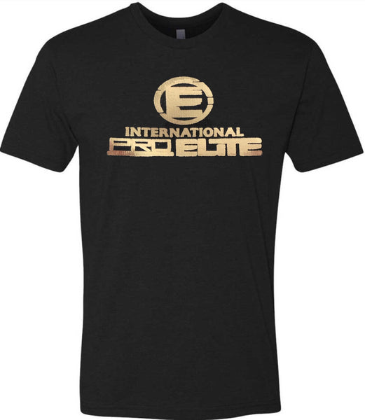 * LIMITED EDITION * International Pro Elite (IPE) T-Shirt – Black with Gold Logo