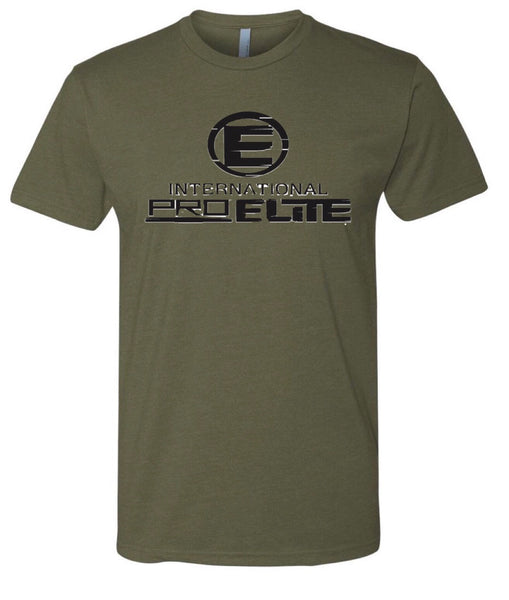*New - International Pro Elite (IPE) T-Shirt – Army Green with Black Logo