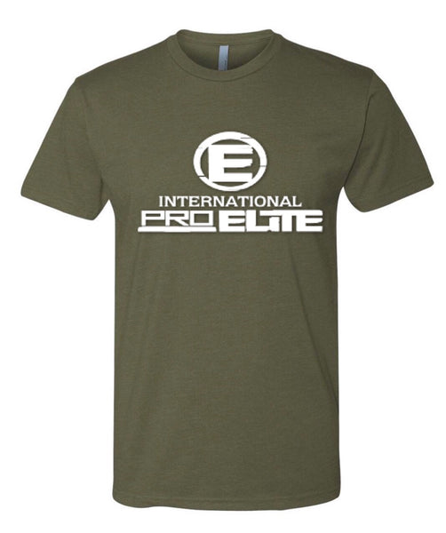 *New - International Pro Elite (IPE) T-Shirt – Army Green with With Logo