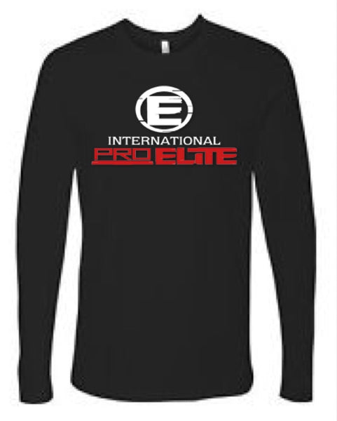 *NEW - International Pro Elite (IPE) UNISEX Long Sleeve T-Shirt – Black with Red/White Logo - SOLD OUT