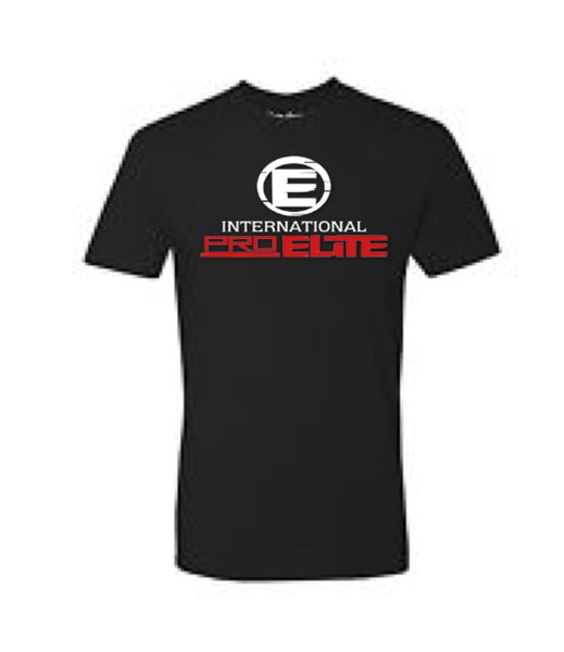 International Pro Elite (IPE) T-Shirt – Black with Red/White Logo