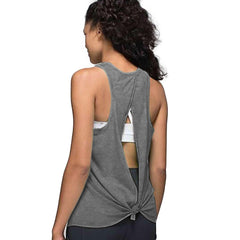 *NEW - Women's G-Cool Tie Back Tank Top - Gray
