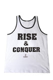 Men's Muscle Motivation Rise and Conquer Tank Top