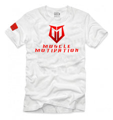 *NEW - LIMITED EDITION* Men's Muscle Motivation T-Shirt - White/Red Foil