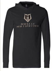 Muscle Motivation Light Weight Cotton Hoodie - Black