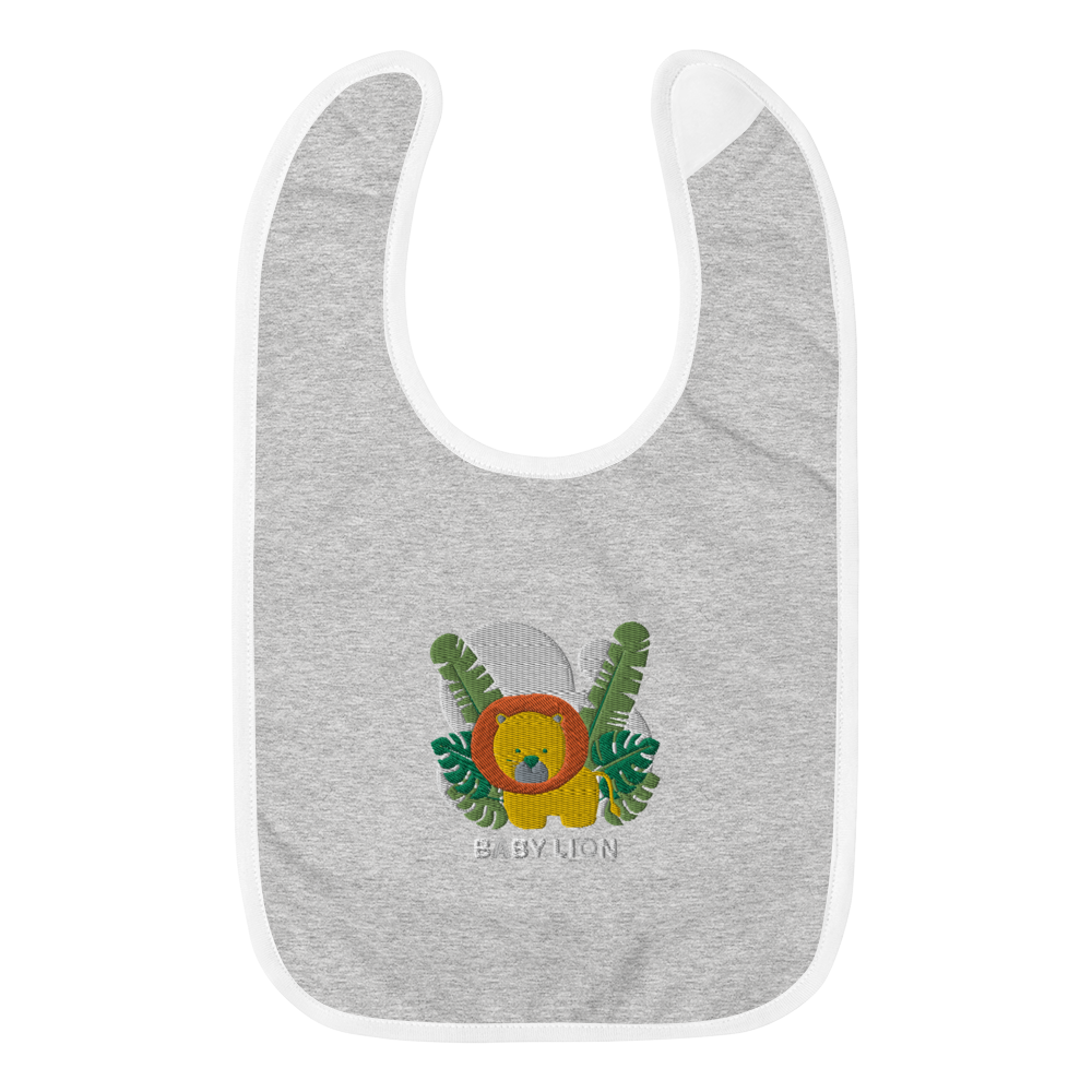 Baby Lion  Embroidered Baby Bib