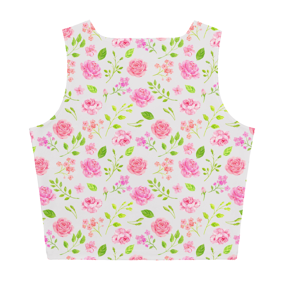 Beautiful Floral Sublimation Cut & Sew Crop Top