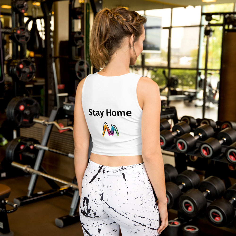 Stay Home Sublimation Cut & Sew Crop Top
