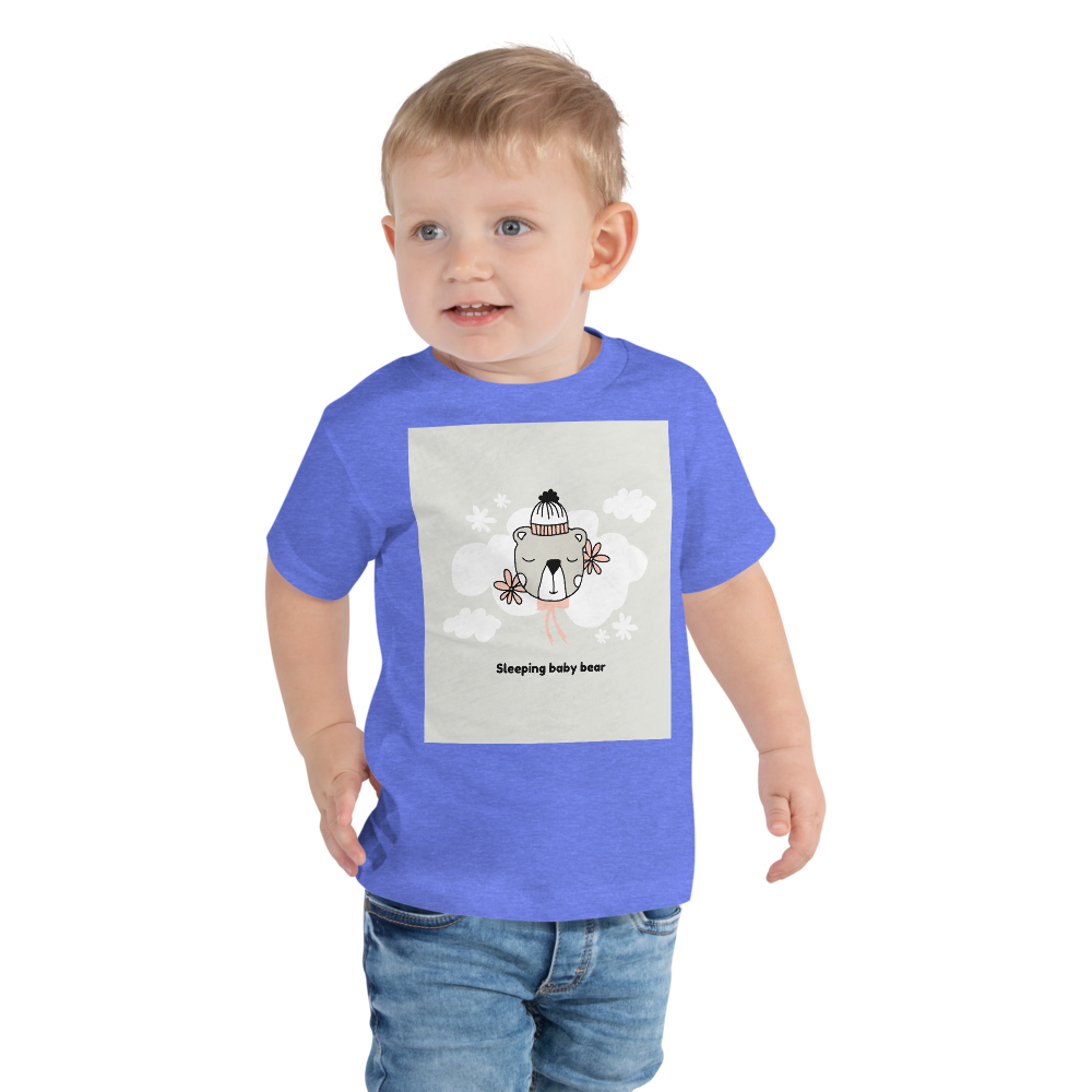 Sleepy baby bearToddler Short Sleeve Tee