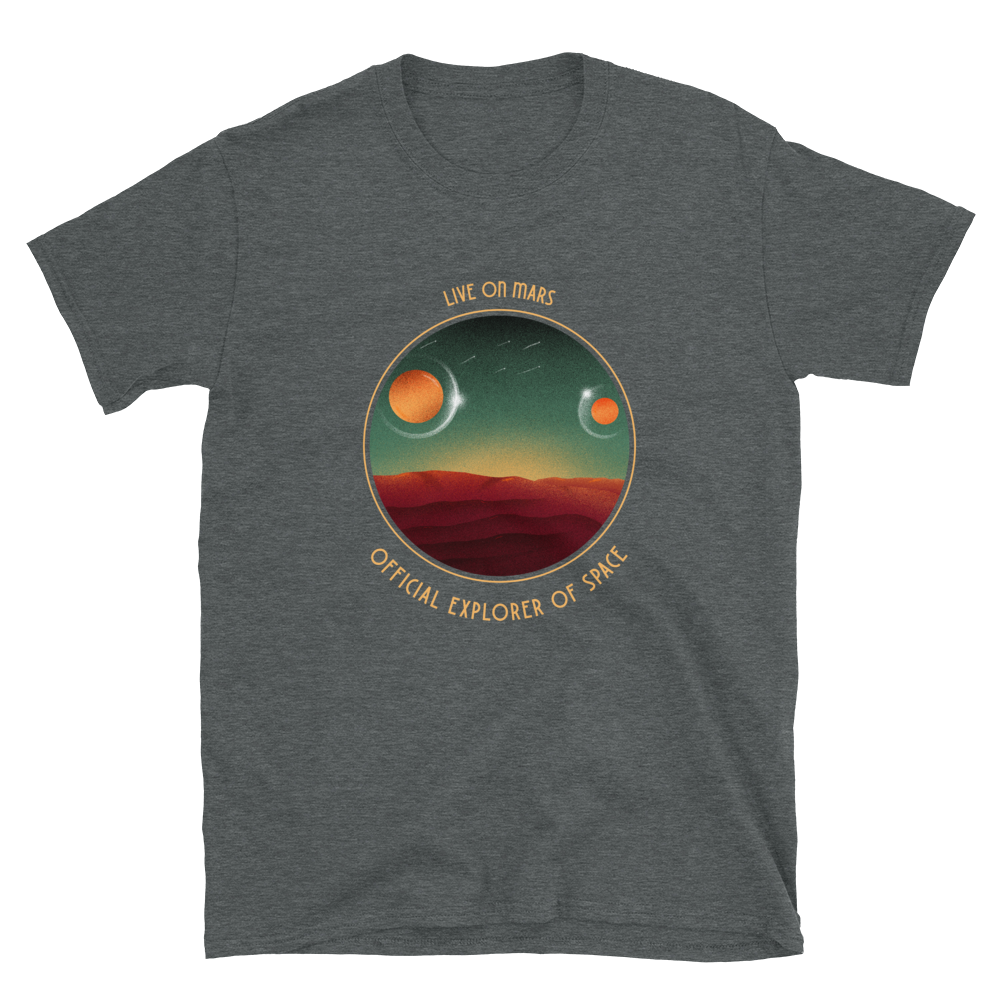 Live on Mars Short-Sleeve Unisex T-Shirt