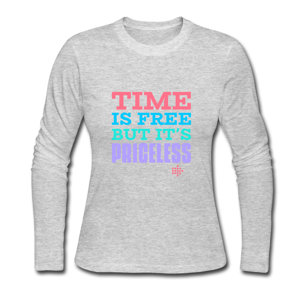Time is free Women's Long Sleeve Jersey T-Shirt - gray