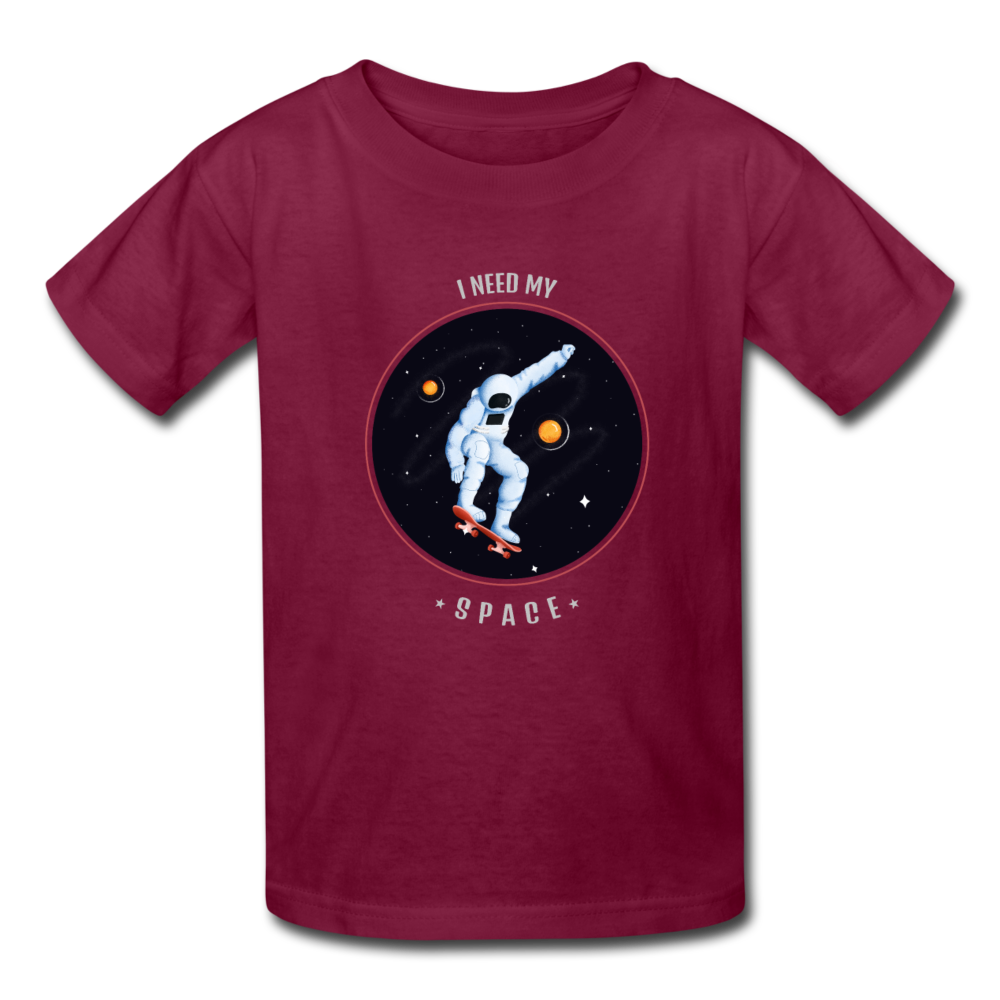 Space Kids' T-Shirt - burgundy