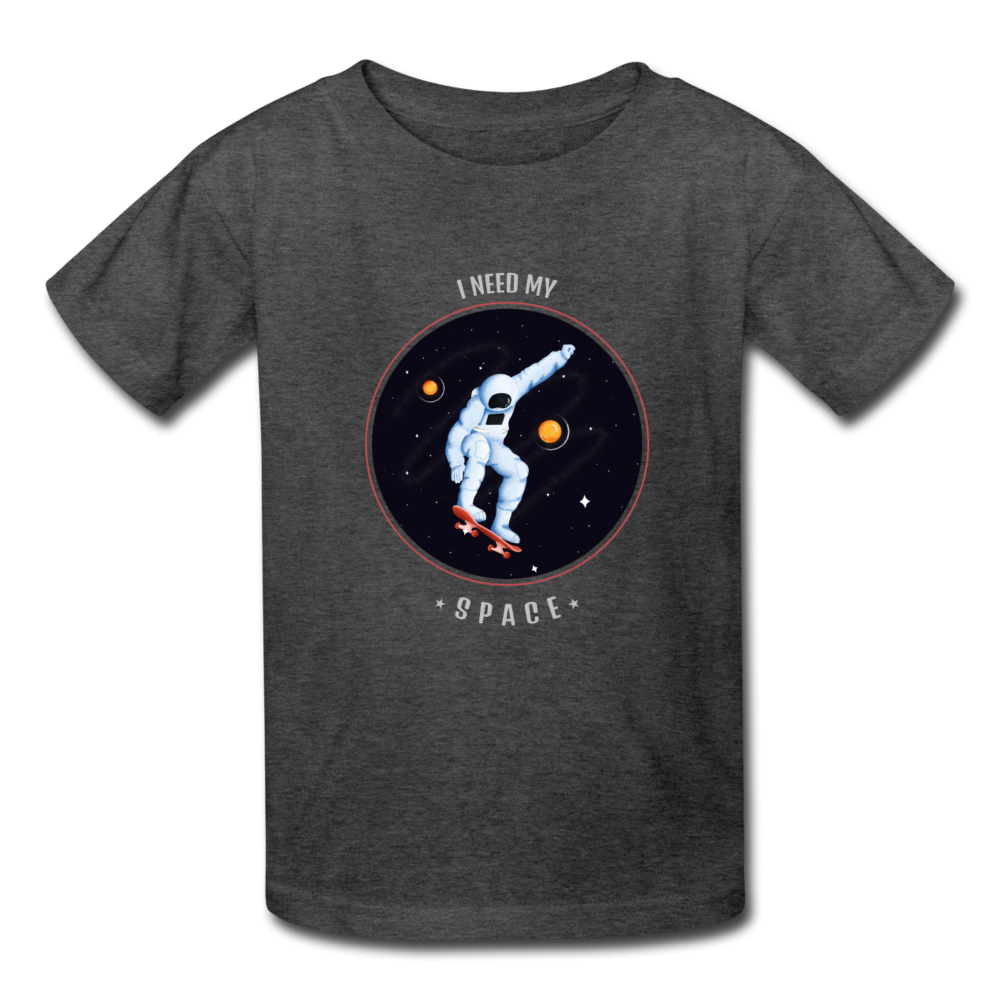 Space Kids' T-Shirt - heather black