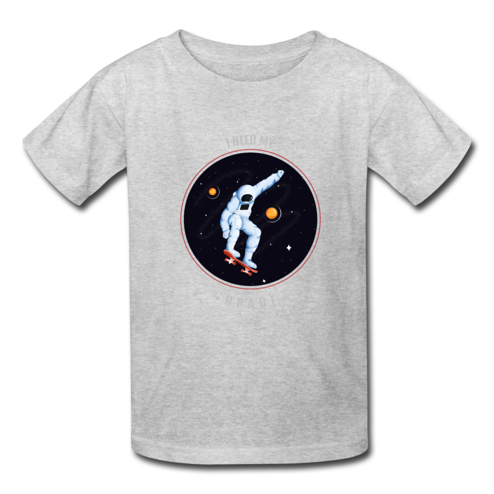 Space Kids' T-Shirt - heather gray