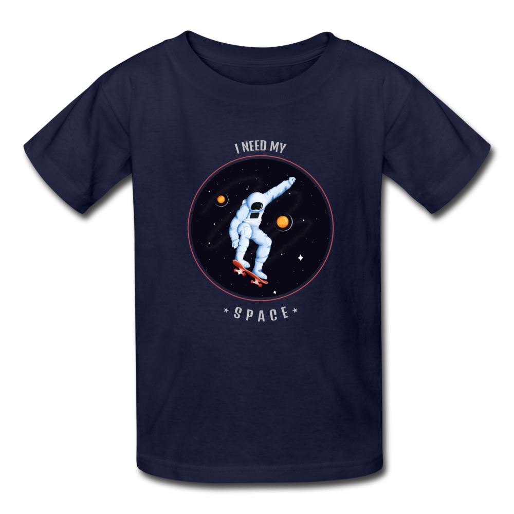 Space Kids' T-Shirt - navy