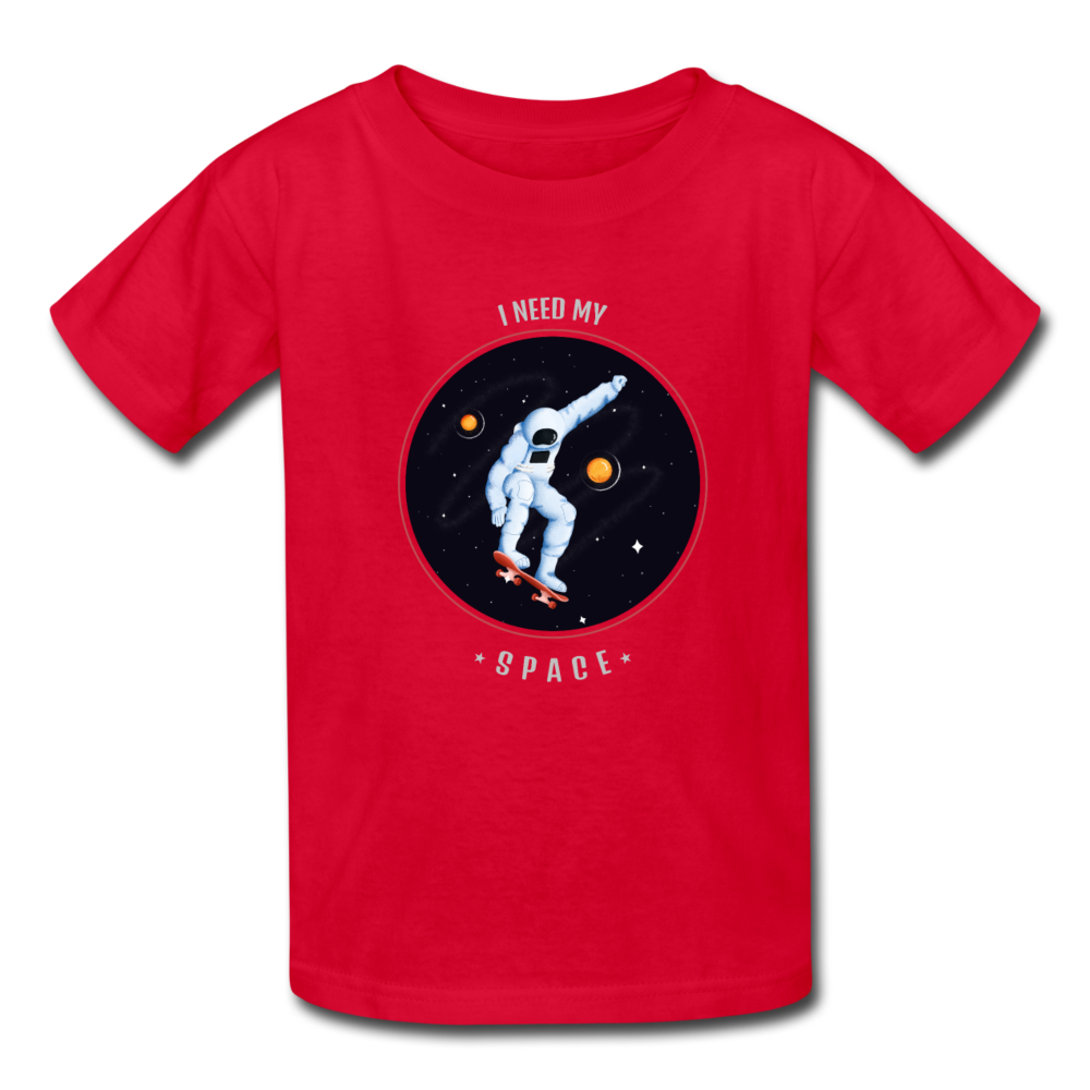 Space Kids' T-Shirt - red