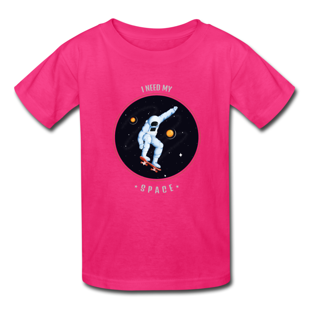 Space Kids' T-Shirt - fuchsia