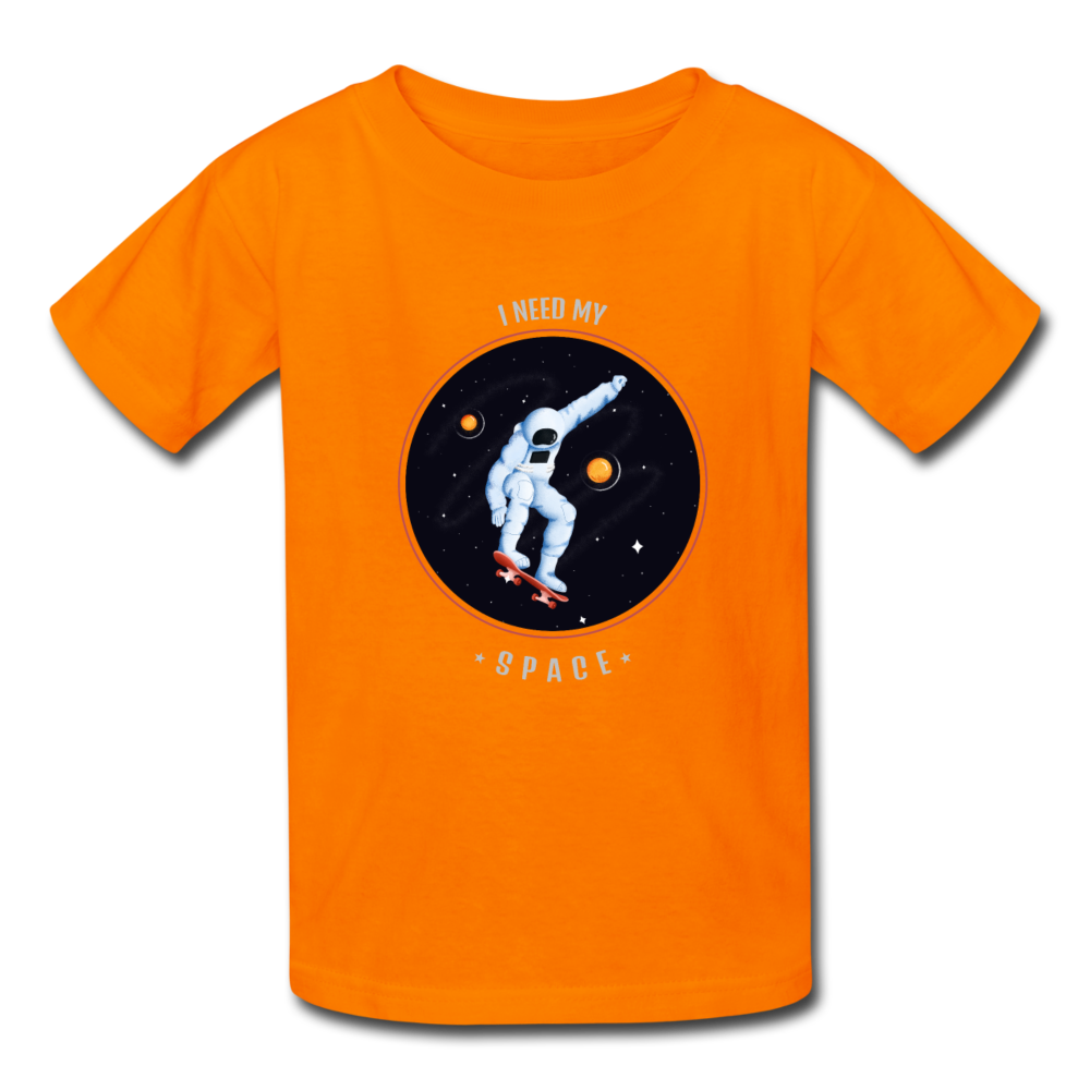 Space Kids' T-Shirt - orange