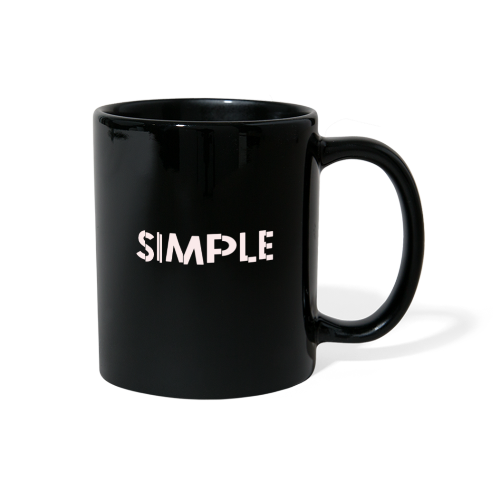 Simple Full Color Mug - black