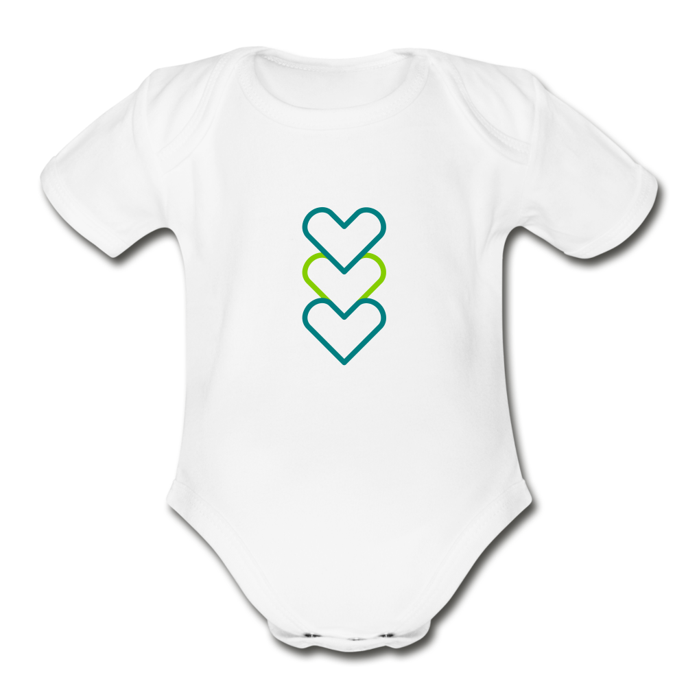 Hearty Organic Short Sleeve Baby Bodysuit - white