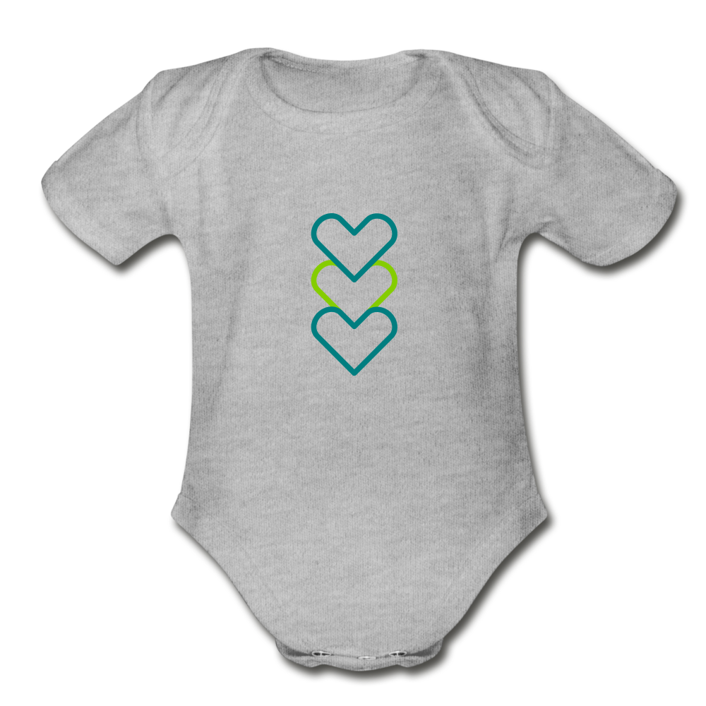 Hearty Organic Short Sleeve Baby Bodysuit - heather gray