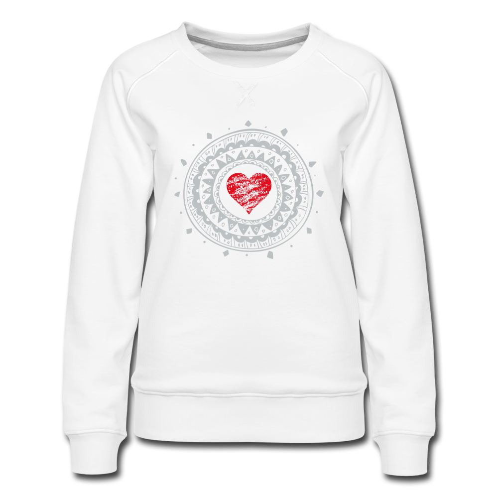 Beautiful Heart Women's Premium Sweatshirt - white