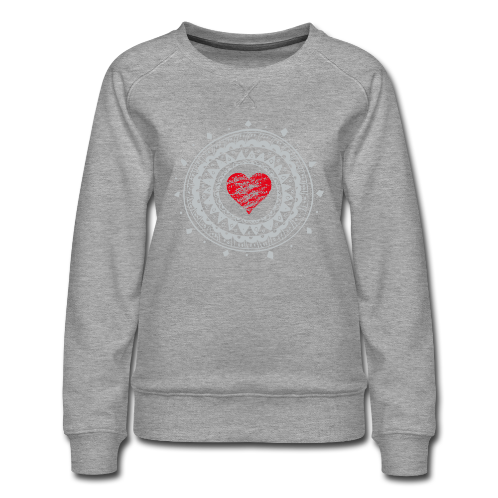 Beautiful Heart Women's Premium Sweatshirt - heather gray